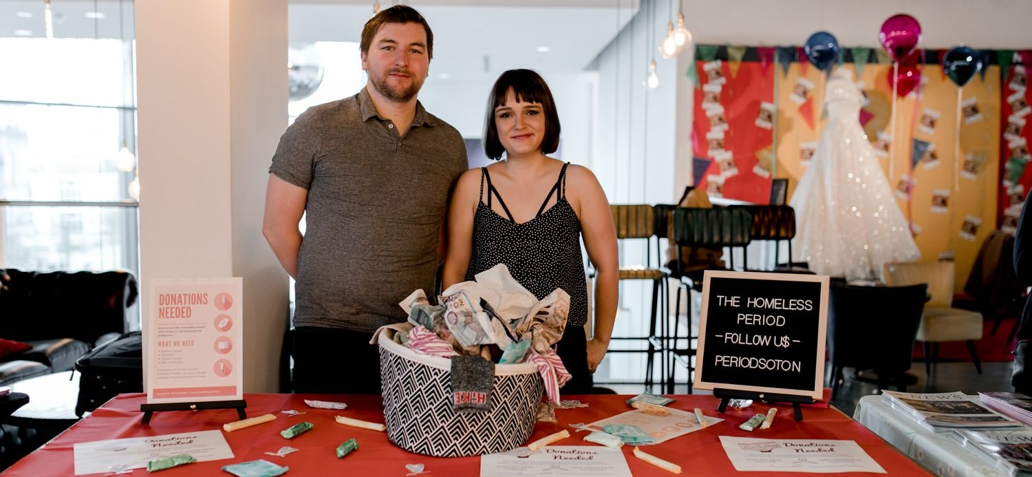 Louanne & Dan from The Homeless Period Southampton at a stand