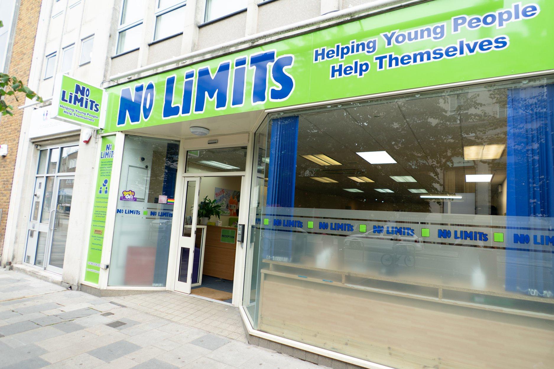 No Limits shop front in Southampton